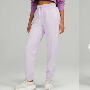 NWT Lululemon Scuba High-Rise French Terry Jogger Lavender Dew 0
